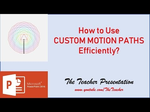 How to use Custom Motion Paths Efficiently in PowerPoint